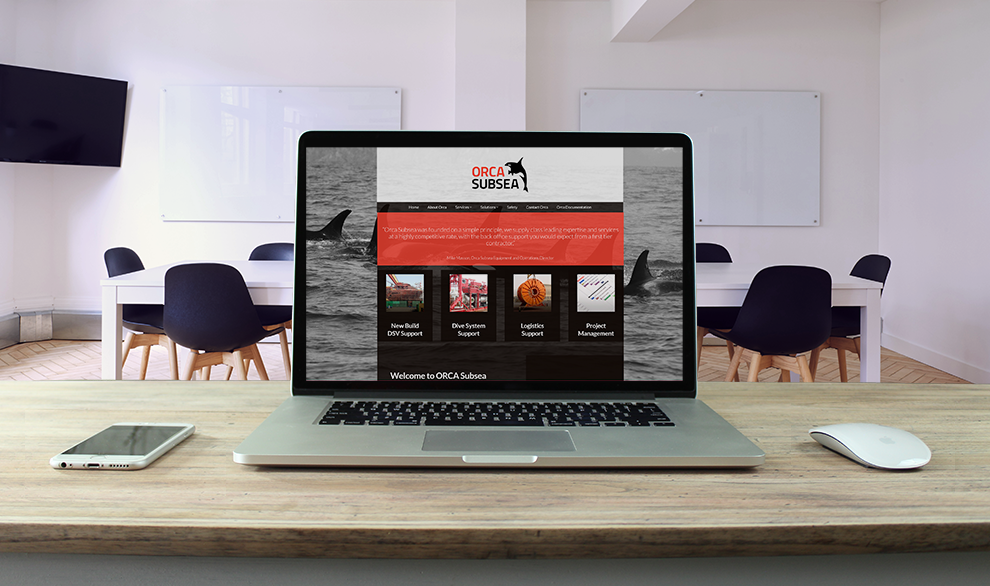 Orca subsea aberdeen responsive website design by web balance ltd